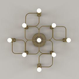 后现代风格金属壁灯模型