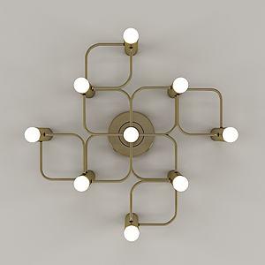 后現代風格金屬壁燈3d模型