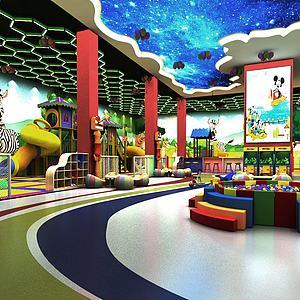 幼儿园室内游乐场模型