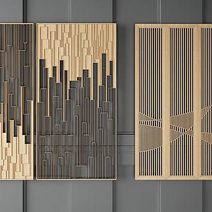 金属流线型隔断模型