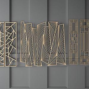 现代金属隔断模型