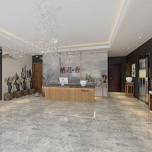 3d酒店大堂模型