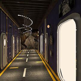 宇航門走廊過道模型