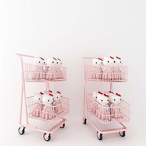 少女粉购物车模型