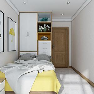 北歐小臥室3d模型