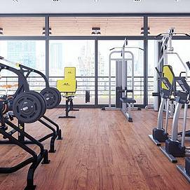 健身房器械組合模型