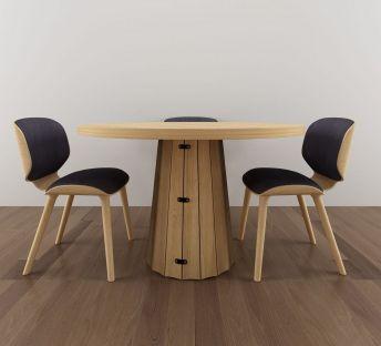 现代简约实木桌椅组合