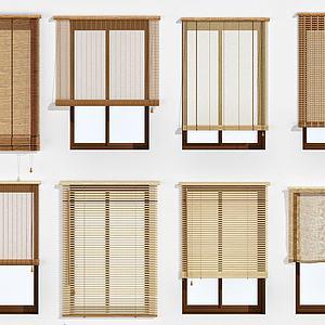 竹帘百叶帘卷帘折叠帘模型3d模型