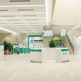 農行銀行大廳模型