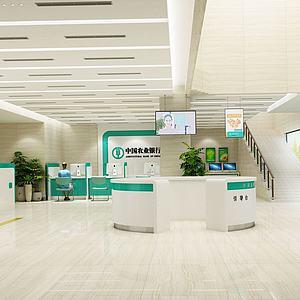 农行银行大厅3d模型