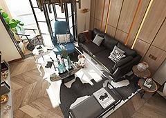 現代輕奢客廳沙發吊燈模型3d模型