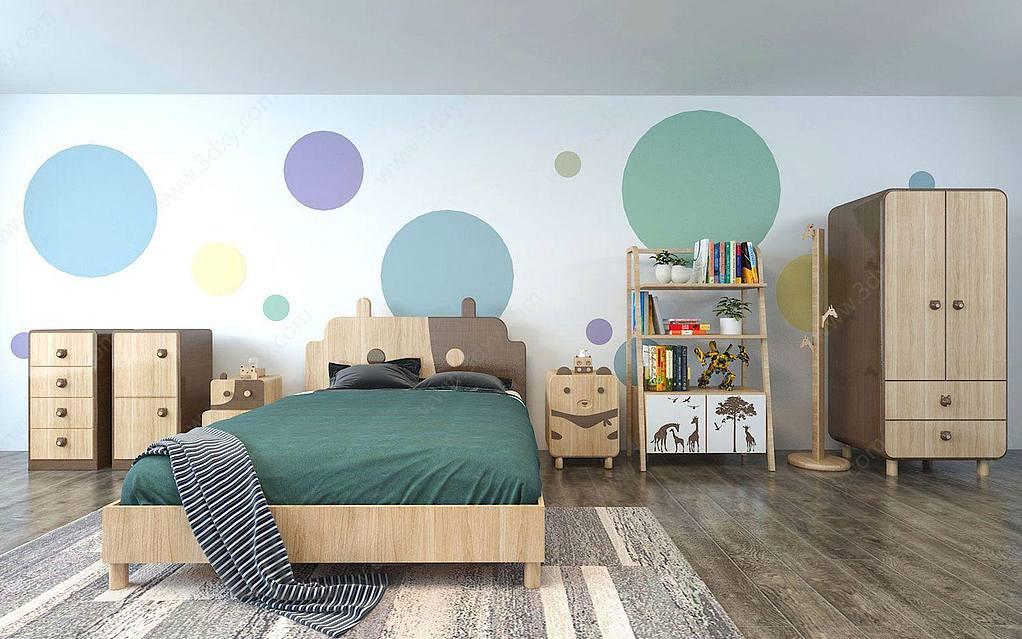 现代儿童房家具组合