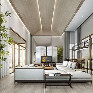 別墅客廳餐廳模型3d模型