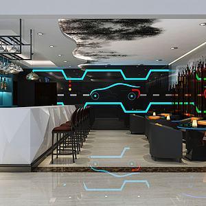 酒吧休閑區模型3d模型