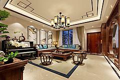 中式客厅书房模型3d模型