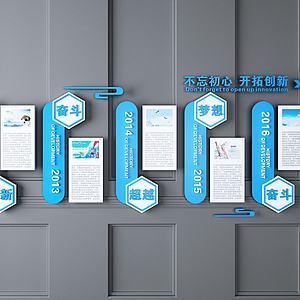 现代企业文化墙模型