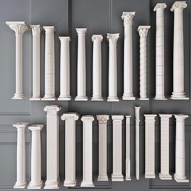 罗马柱罗马杆模型