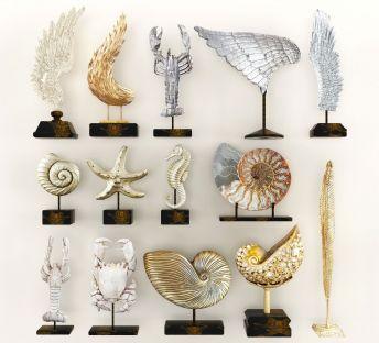 现代雕塑陈设品组合
