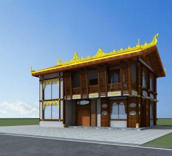东南亚风格民居