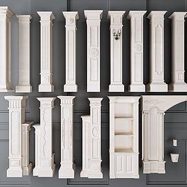 罗马柱组合模型