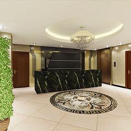 酒店走廊休息室客房模型