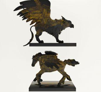 神兽铜制雕塑摆件陈设品