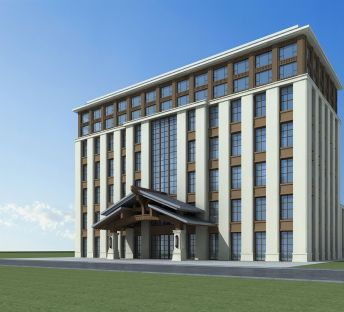 新中式酒店大楼