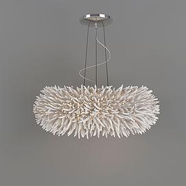 现代时尚吊灯模型
