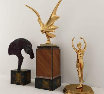 现代铜雕金属雕塑摆饰品