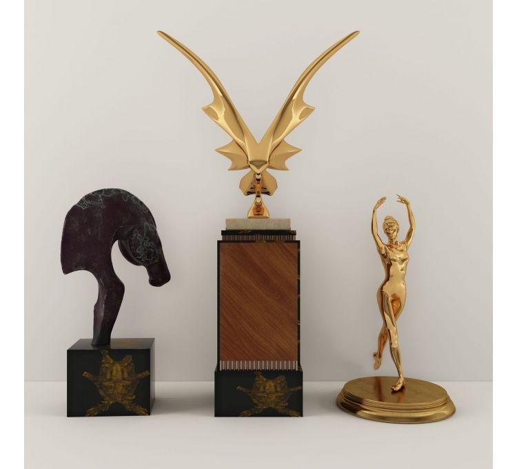 现代铜雕金属雕塑摆饰品模型