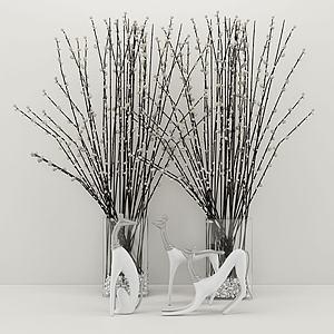 花瓶飾品擺件陳設品3d模型