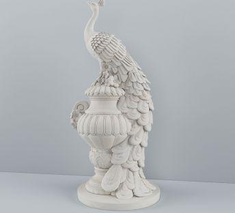 孔雀雕塑陈设品