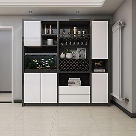 现代酒柜模型