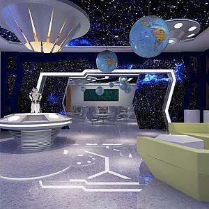 科技展廳展館模型3d模型