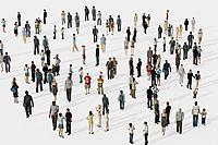 行人男人女人聊天人群3d模型