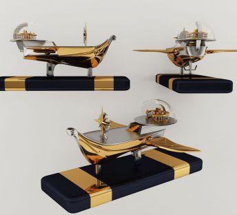 现代航海船摆件