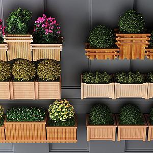 木制花架组合模型