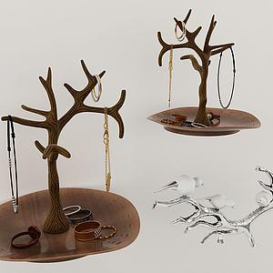 項鏈手飾品架組合3d模型