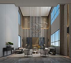 大厅休息区模型3d模型