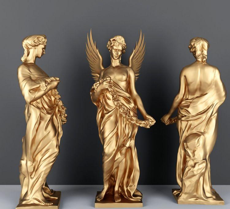 欧式金属人物雕塑模型