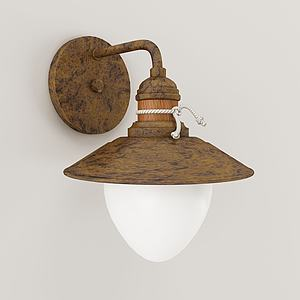 工業風鐵藝壁燈模型3d模型