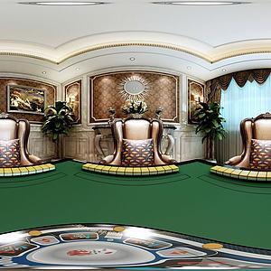 家庭误乐房麻将桌模型3d模型