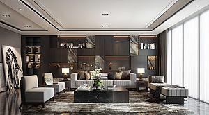 现代客厅艺术品陈列柜3d模型