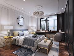 现代轻奢卧室空间模型3d模型