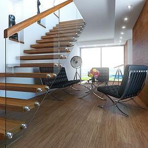 攝影室辦公區樓梯藝術展品模型3d模型