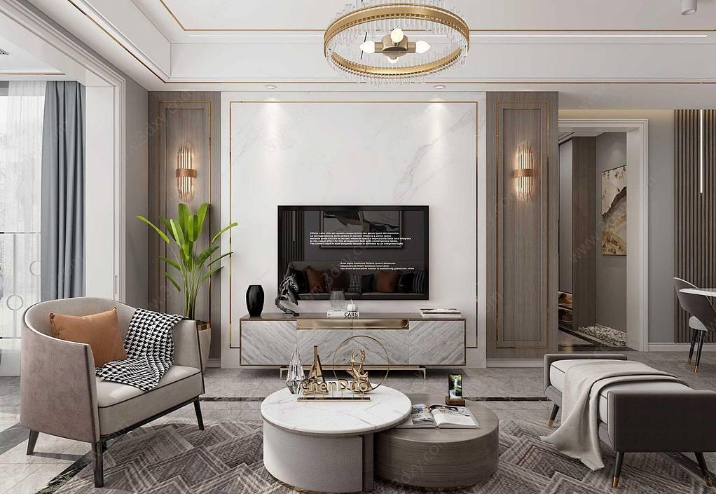 新中式輕奢客廳