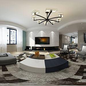 新現代客廳沙發躺椅模型3d模型