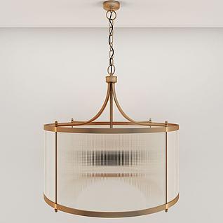 簡約金屬吊燈3d模型