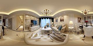 歐式客廳沙發茶幾3d模型