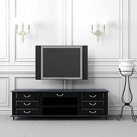 新式電視柜壁燈模型